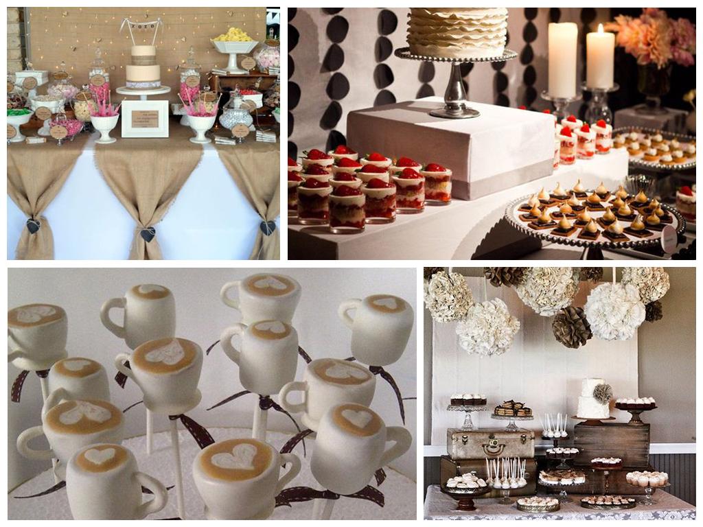 кофейная свадьба торт и угощения