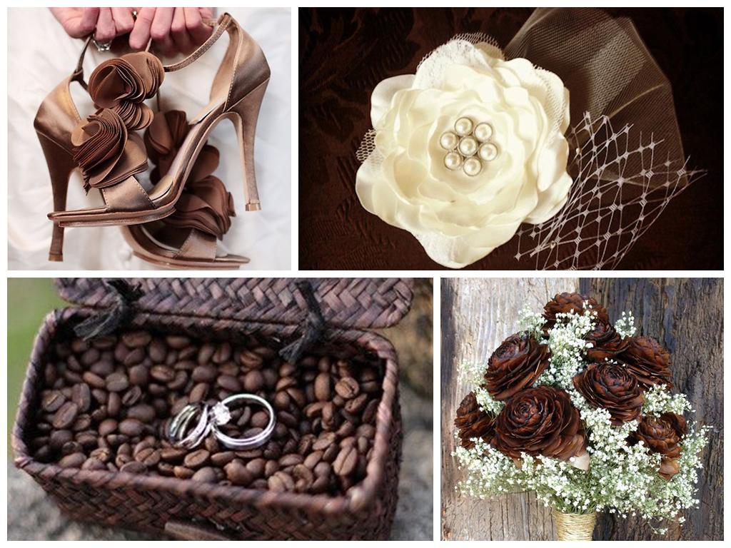 кофейная свадьба аксессуары