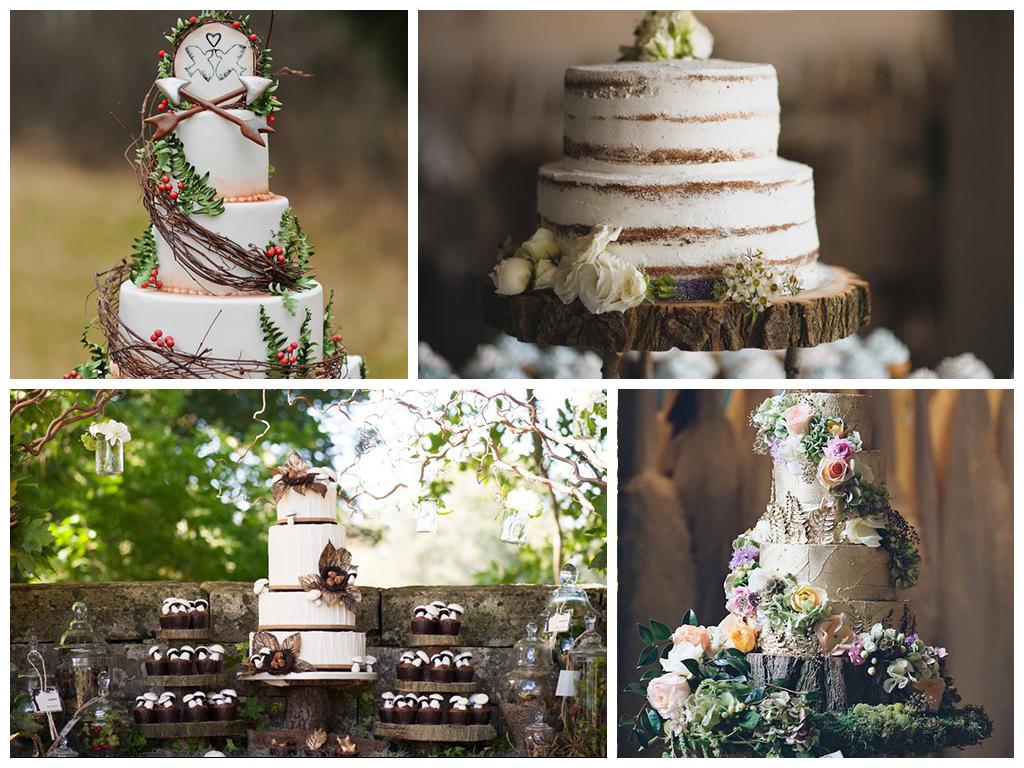 Свадебный торт на лесную свадьбу
