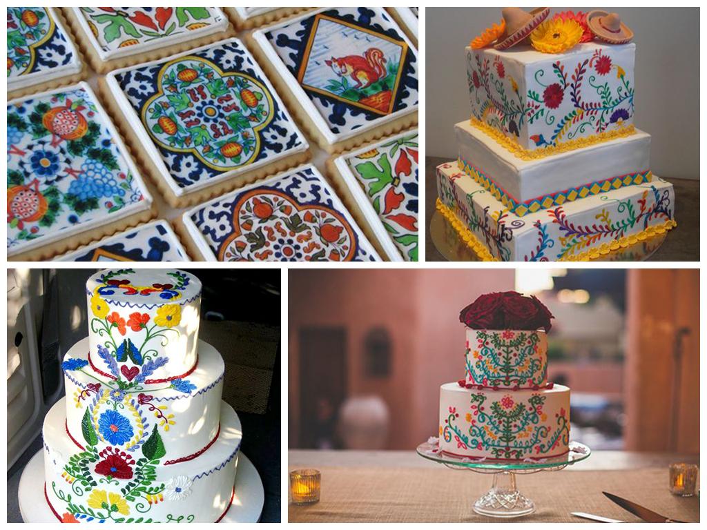 свадебный торт в мексиканском стиле фото