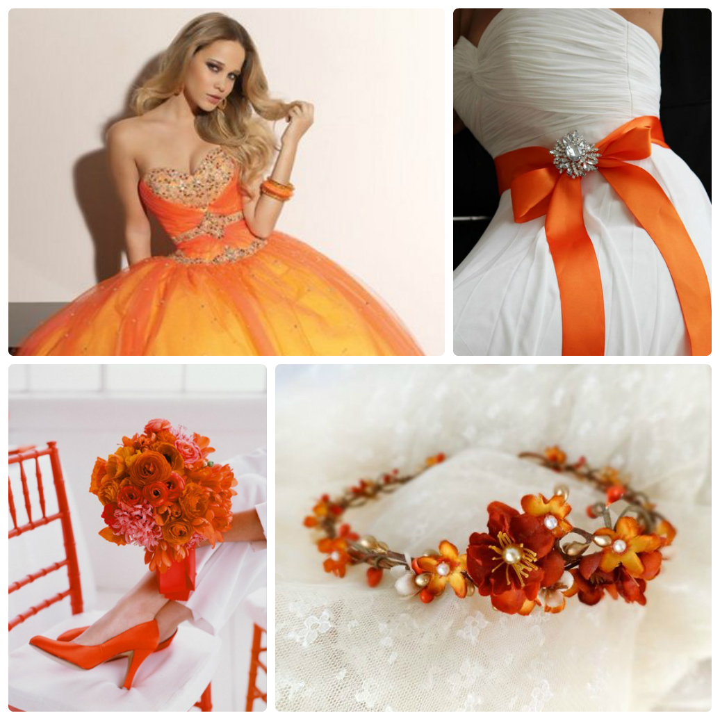 оранжевая свадьба