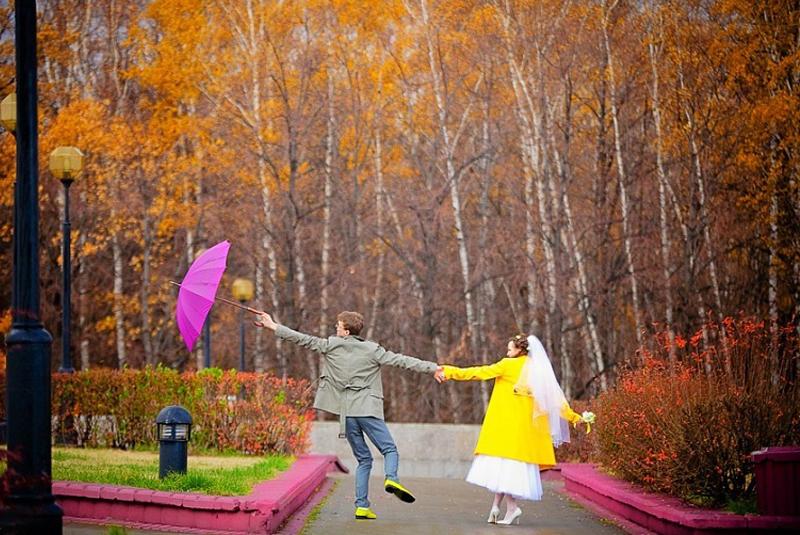 платье на свадьбу осень