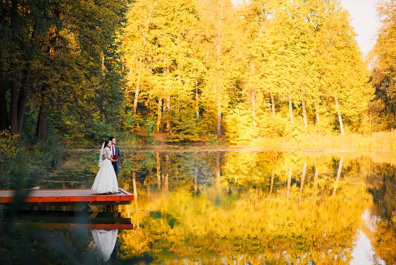 цвет свадьбы осенью