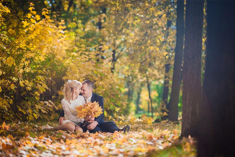 свадьба золотая осень