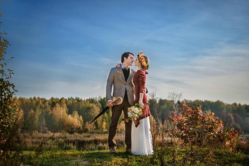 как одеться на свадьбу осенью