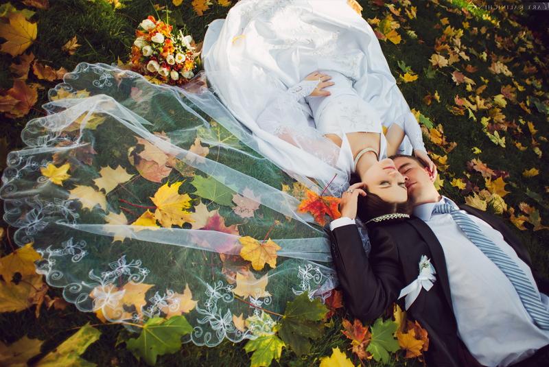 свадьба осенью фотосессия идеи