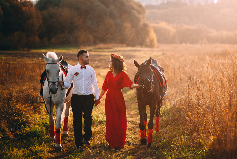 осенняя свадьба цвета