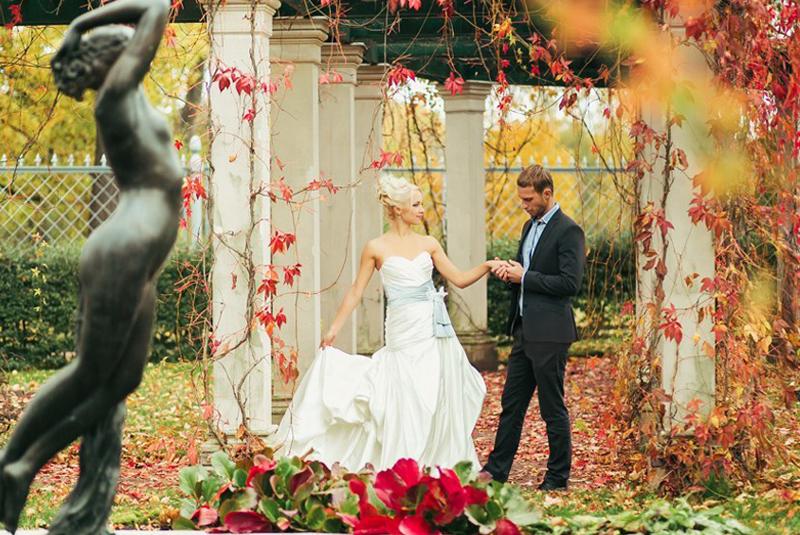 цвета для свадьбы осенью
