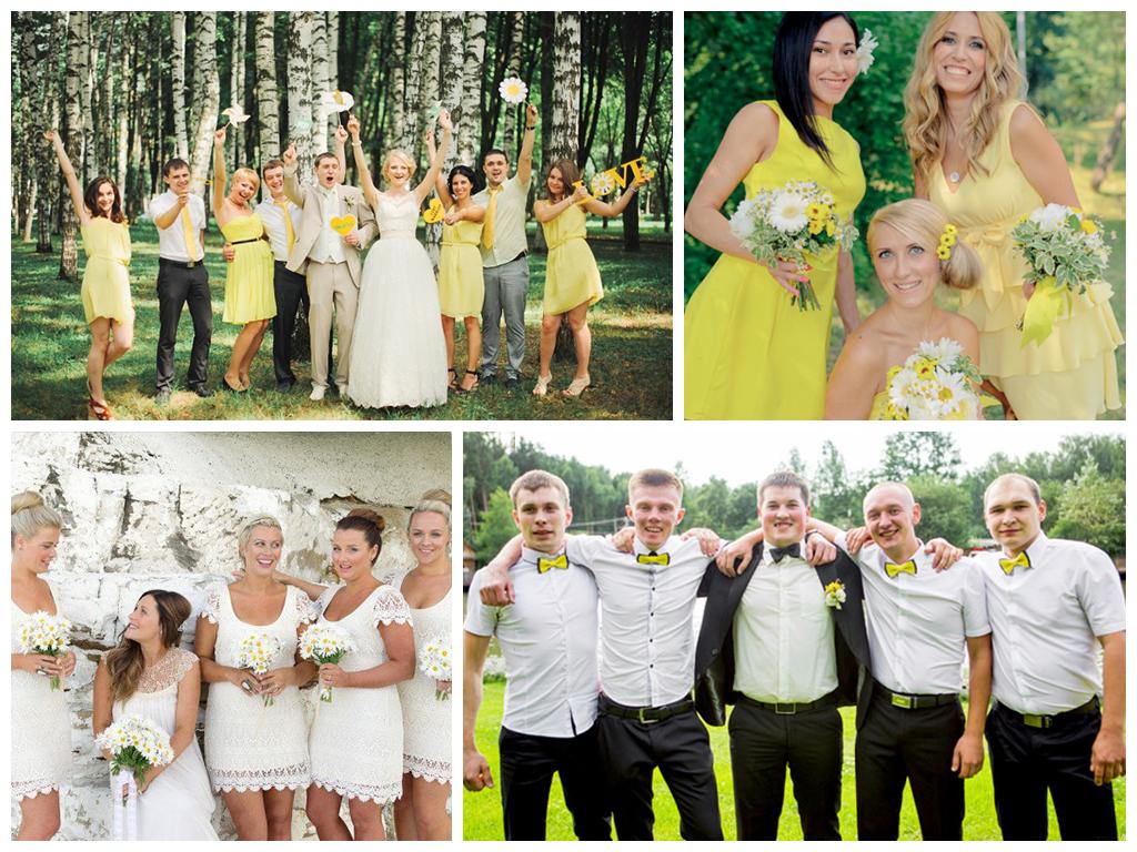 ромашковая свадьба фото