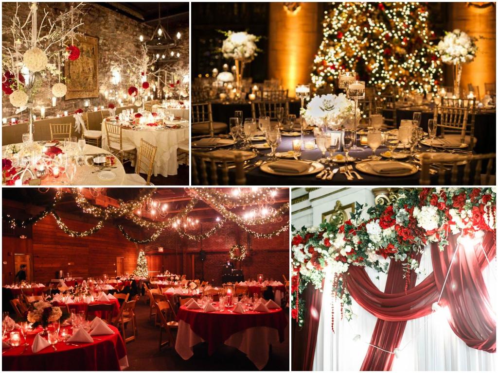 Оформление свадьбы в Рождественском стиле