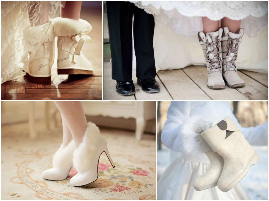 Свадебные туфли и платье для невесты рождественская свадьба
