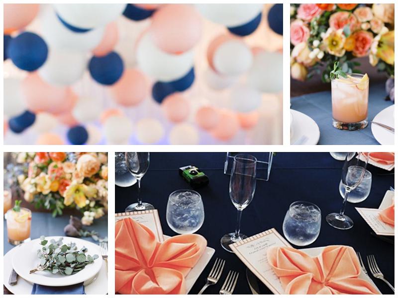 сине персиковая свадьба