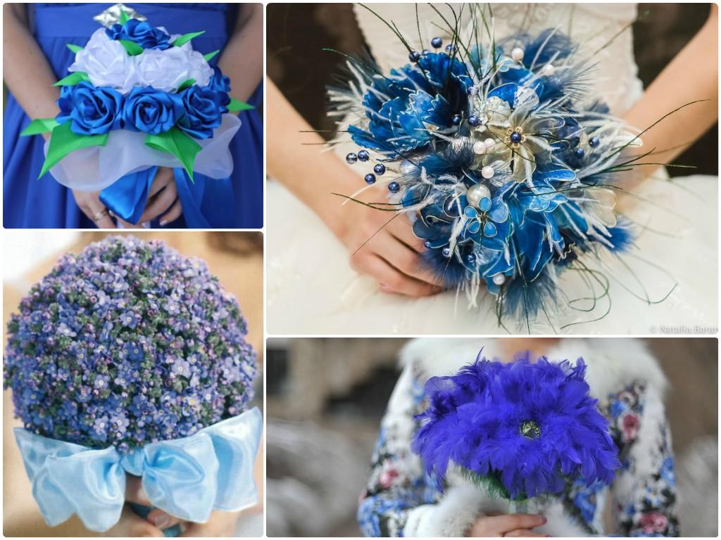 Синяя свадьба: оформление и фото