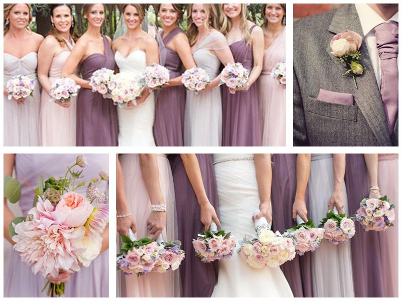 Свадьба сиренево розовая