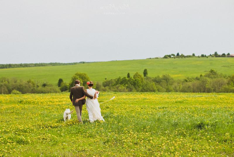 как одеться на свадьбу весной