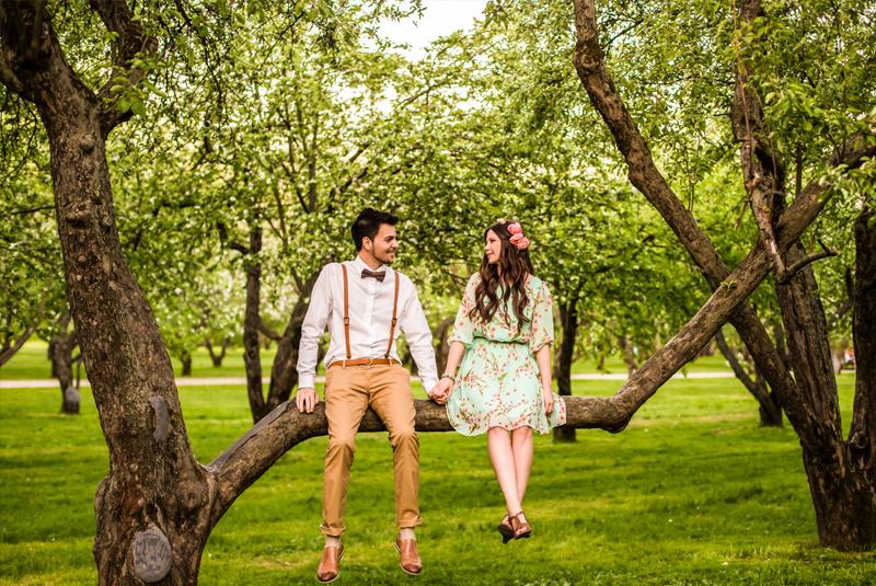 свадьба весной оформление