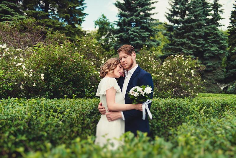 фотосессия свадьбы весной