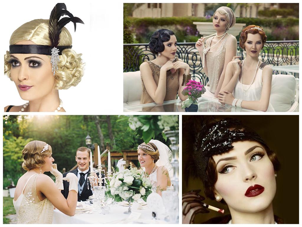 Одежда молодоженов и гостей на свадьбе в Гэтсби стиле