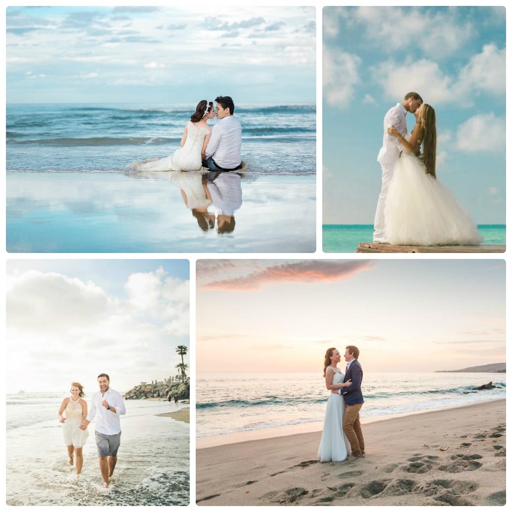 На море на свадьбе