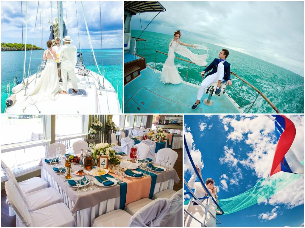 свадьба на яхте или теплоходе