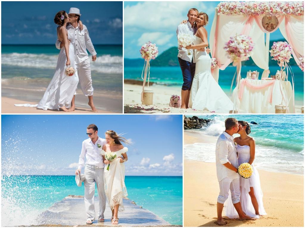 образ молодоженов свадьба на море