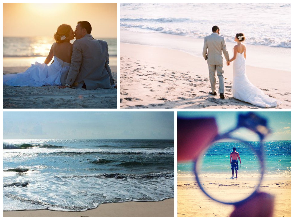 свадьба на пляже возле моря