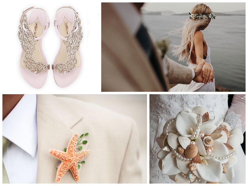 платье невесты свадьба на пляже