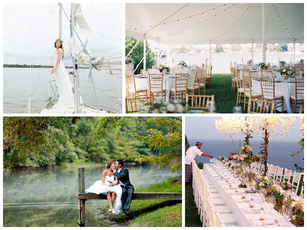 свадьба у воды