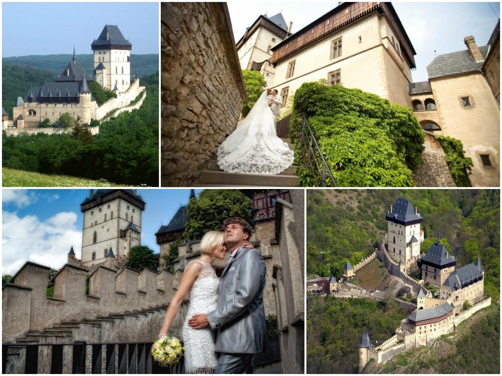 свадьба в чехии Замок Карлштейн