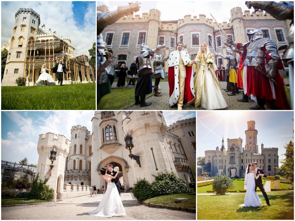 свадьба в чехии Замок Глубока над Влтавой