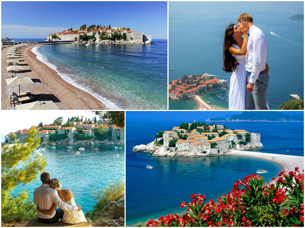 свадьба На острове Святой Стефан в Черногории