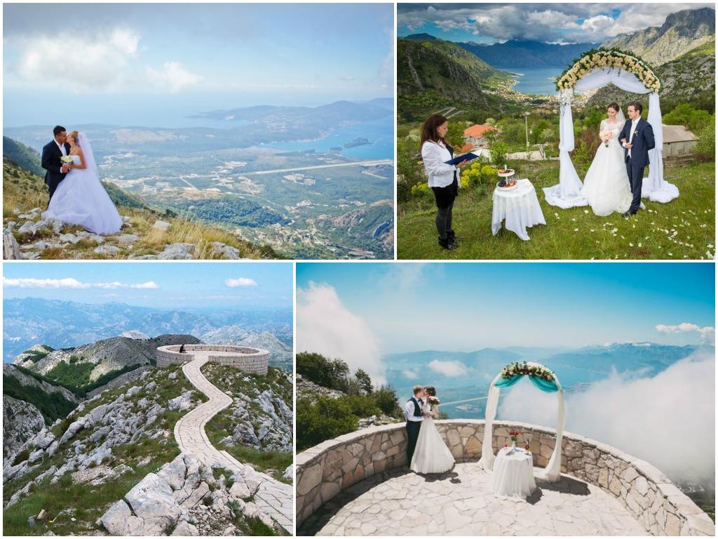 свадьба На горе Ловчен в Черногории