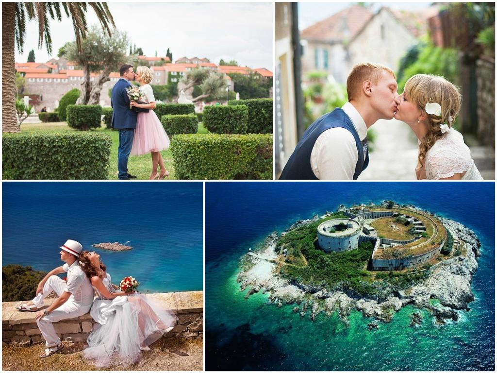 свадьба В городе Герцег-Нови в Черногории