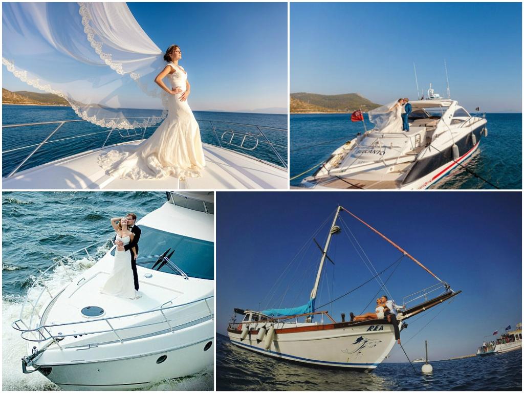 свадьба На яхте в открытом море в Черногории