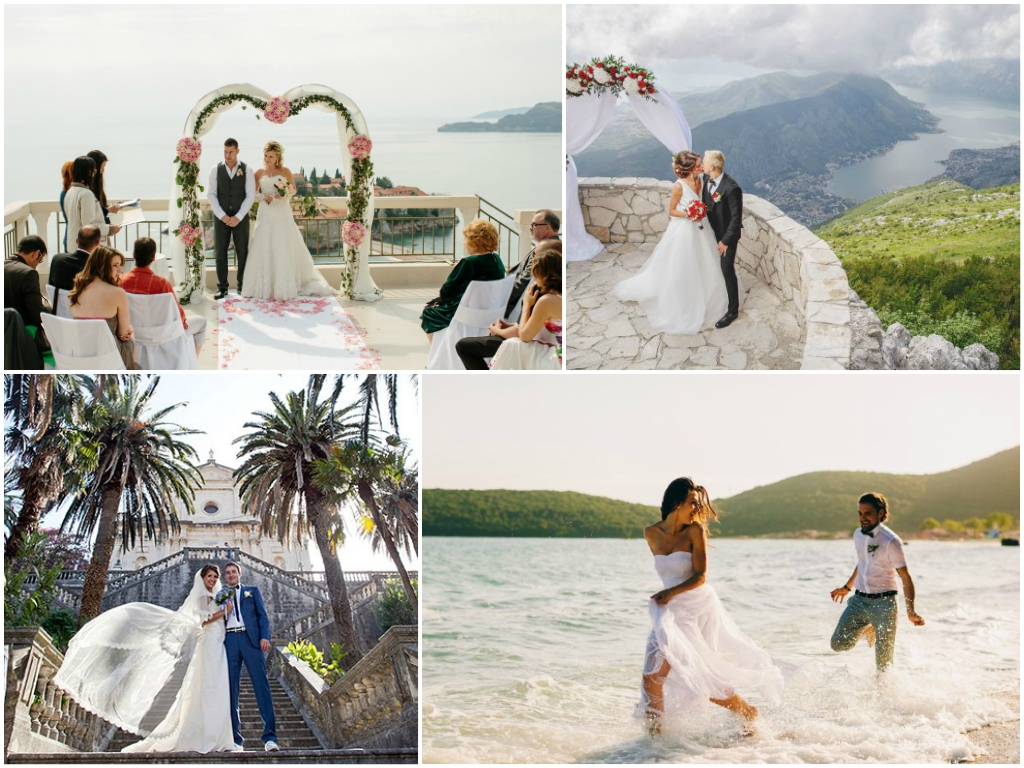сколько стоит свадьба в Черногории цены