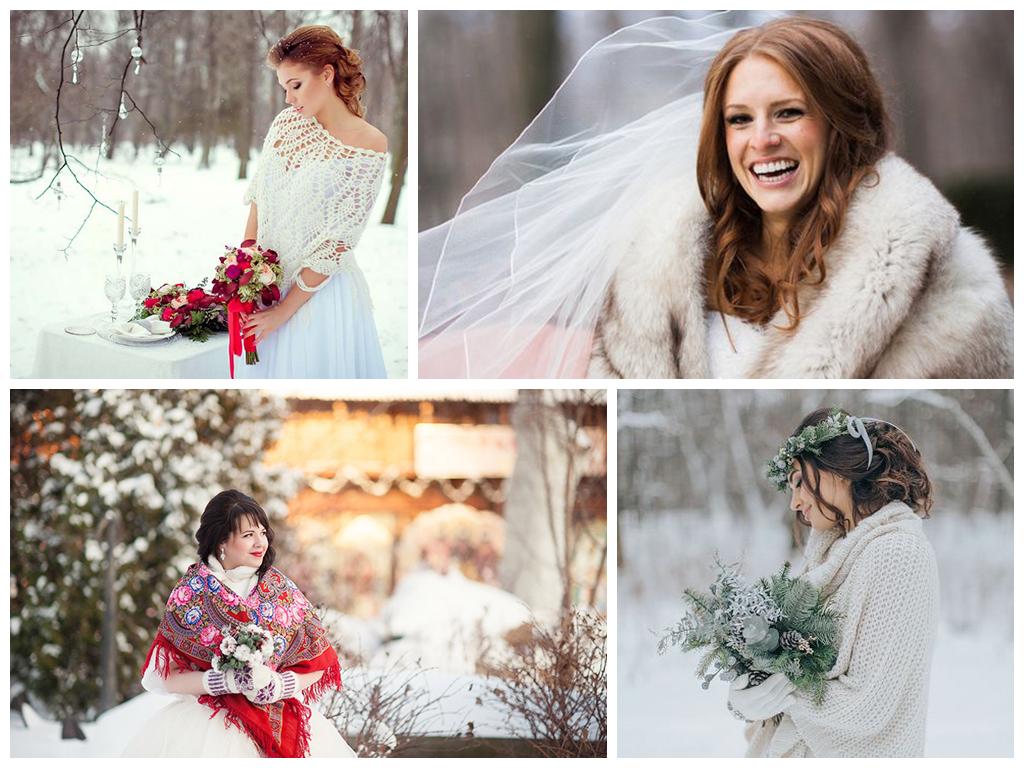 в чем пойти на свадьбу в декабре платье невесты зимой