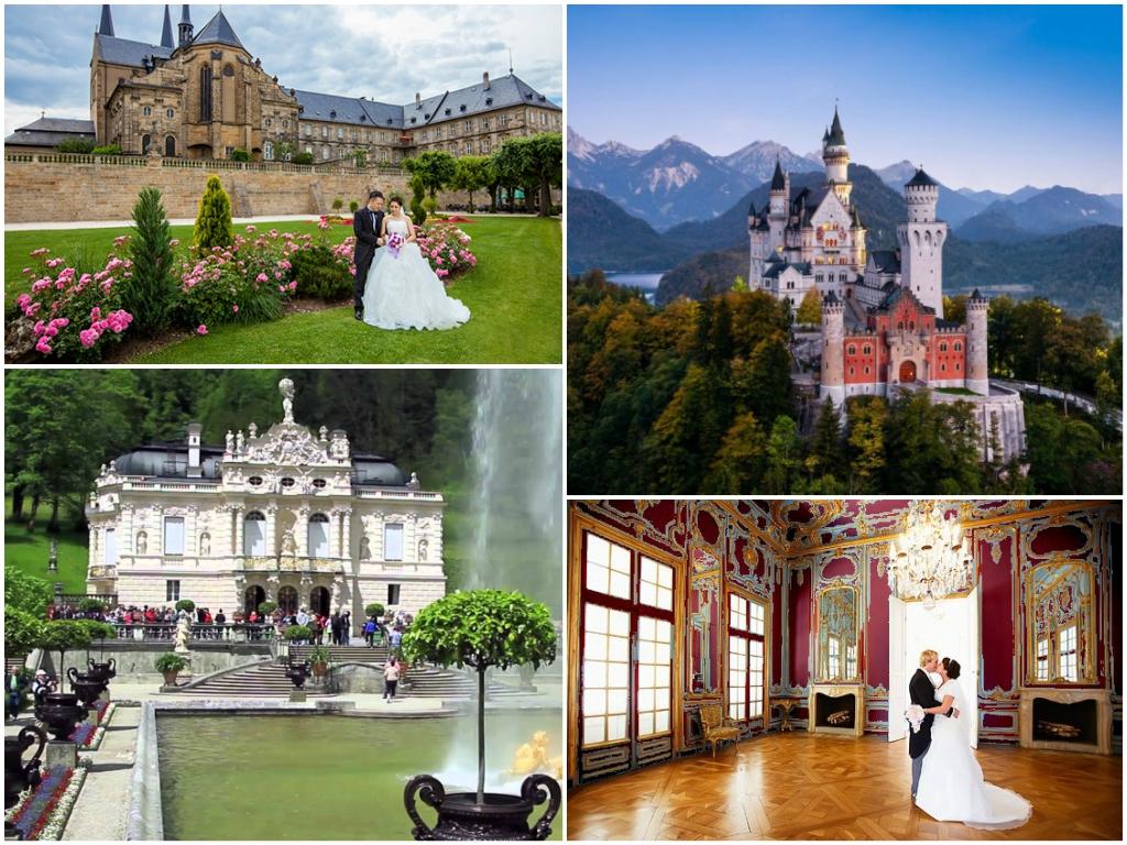 свадьба в дворцах Баварии в германии