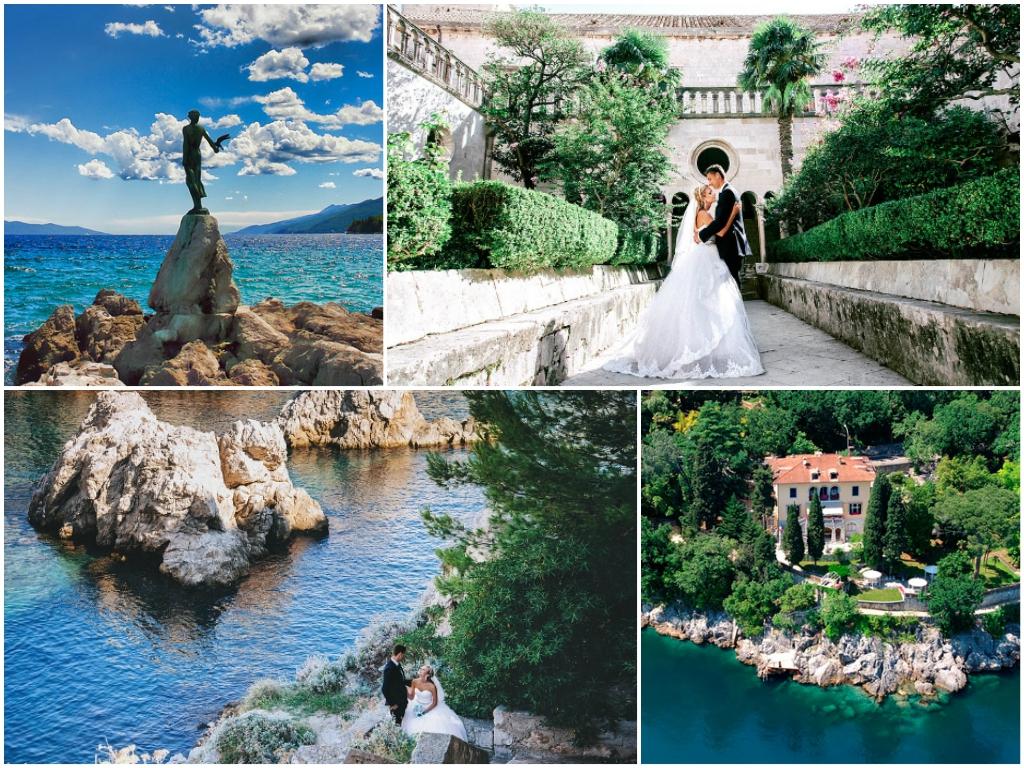 свадьба в Хорватии На курорте Опатия