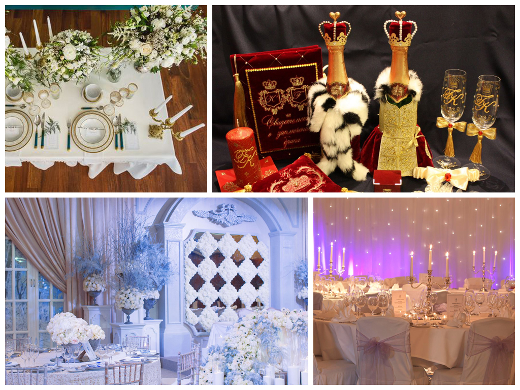 Оформление свадьбы в королевском стиле: идеи и фото