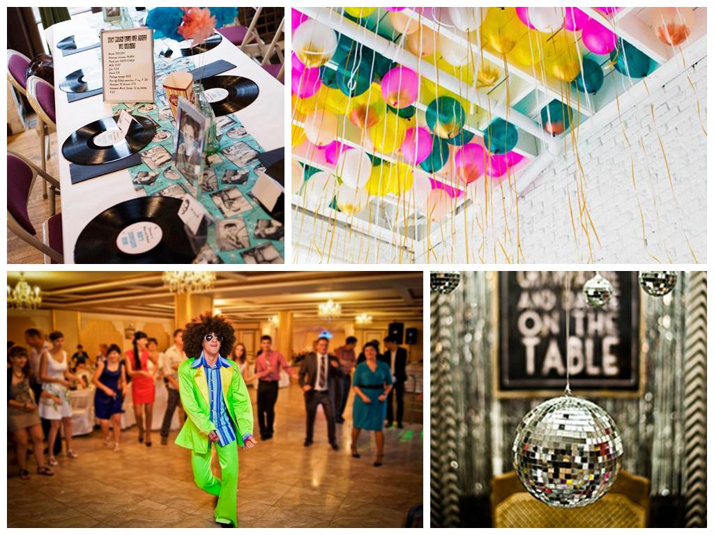 Оформление свадьбы в стиле 80-х: идеи и фото