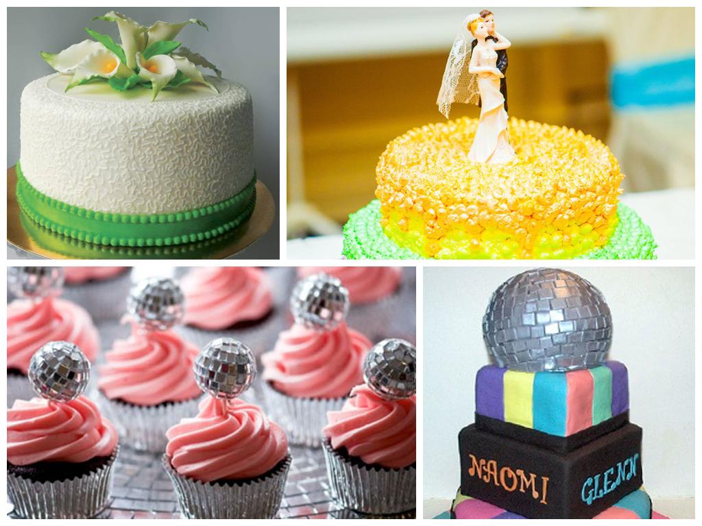 Свадебный торт на свадьбу в стиле 80-х годов