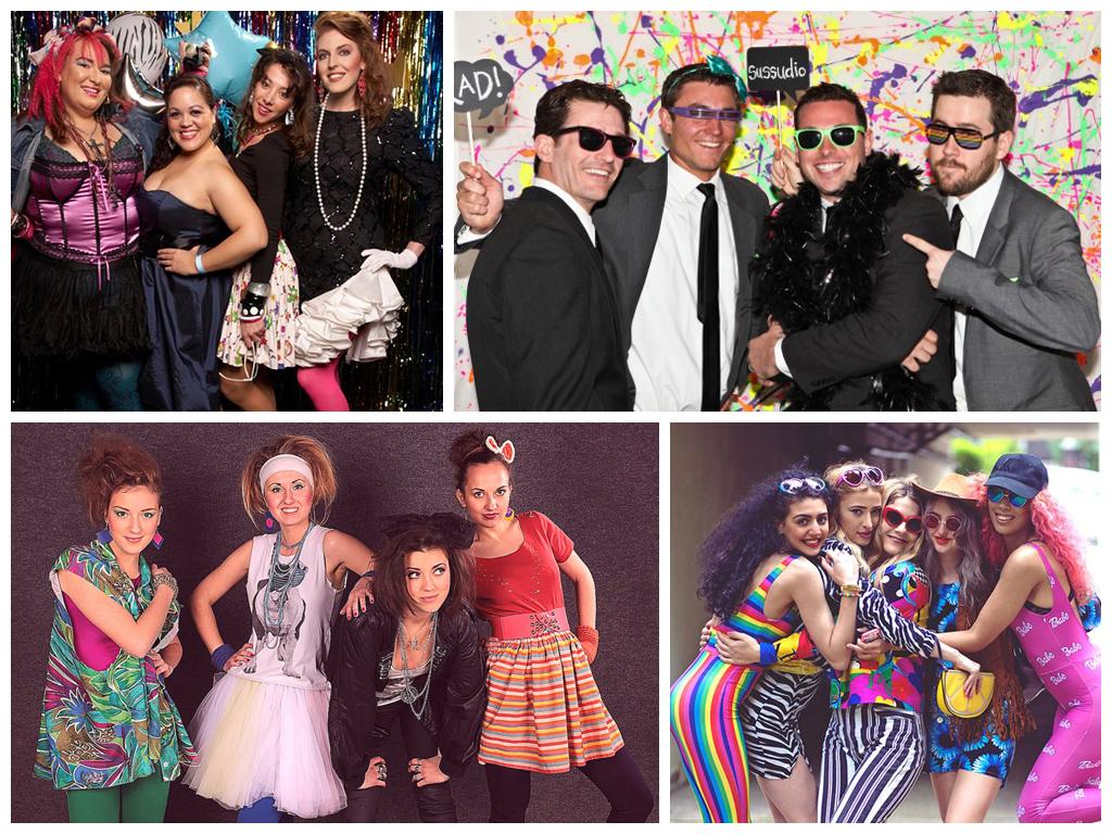 Одежда молодоженов и гостей в стиле 80-х