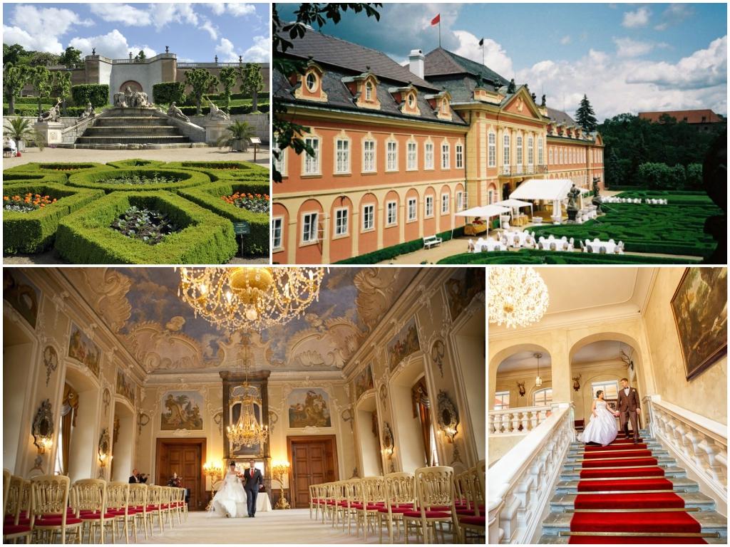 свадьба в замке Добриш в чехии