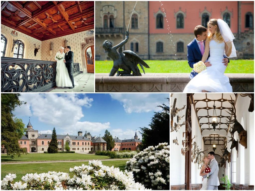 свадьба в замке Сихров в чехии