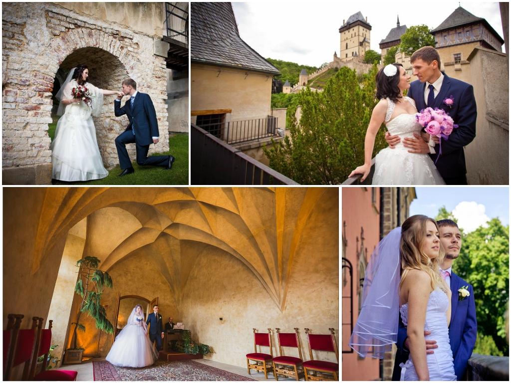 свадьба в замке Карлштейн в чехии