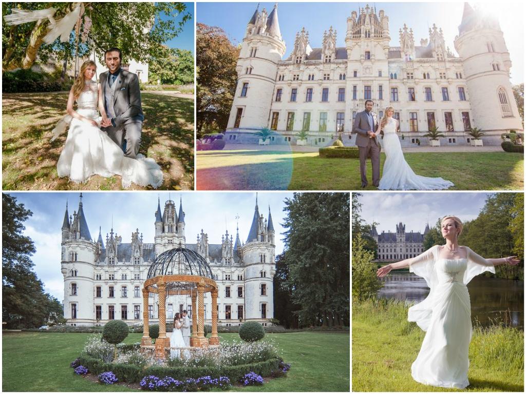 свадьба в замке Шато Шалей франция