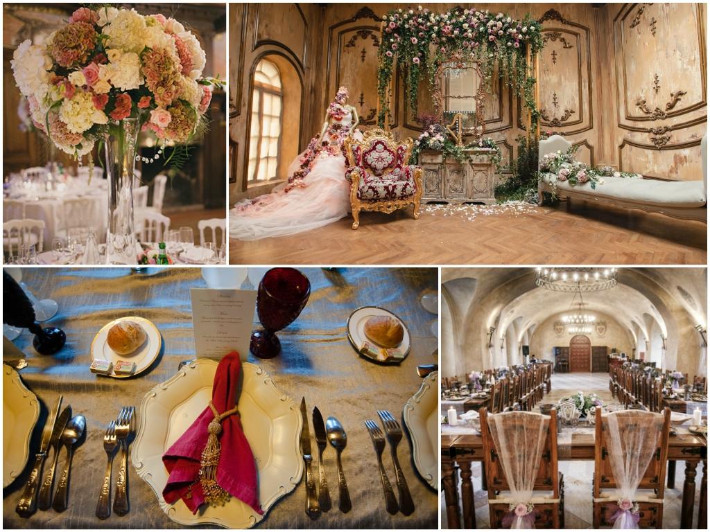 свадьба в замке оформление