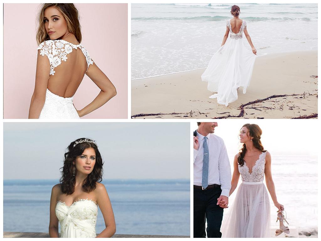 свадьба на пляже платье невесты для пляжной церемонии