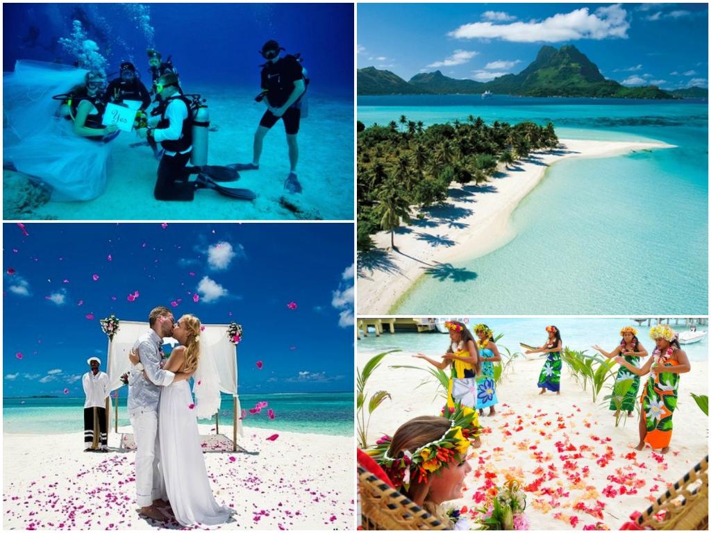 свадьба на островах таити