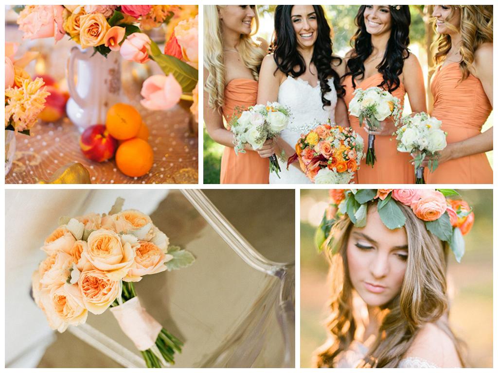 Cadmium orange. Топ актуальных осенних свадебных цветов. Стильные цвета для свадьбы осенью